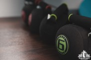 Image of dumbbells in a personal trainer studio