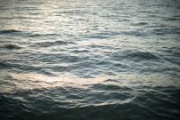 Sunset light on waves