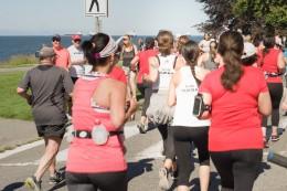 Team VOKRA runners participating in Scotia Bank Half Marathon in Vancouver