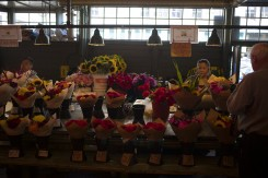 Florist stall at Pike Place Market in Seattle