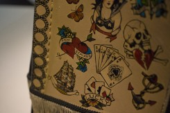 World of Wearable art awards dress with tattoo illustrations exhibit at EMP in Seattle